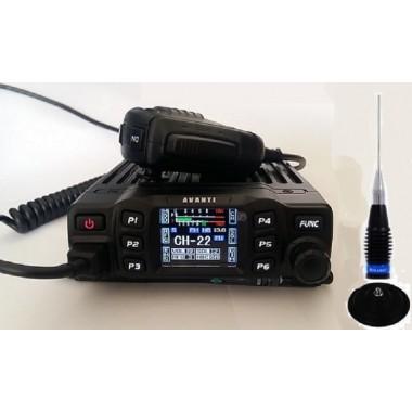 Pachet Statie CB Avanti Morini Forza putere reglabila in 3 trepte 4-10-40 Watti cu antena Megawat ML145