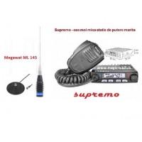 Pachet statie cb Avanti Supremo ASQ 4/20 W cu antena Megawat ML145