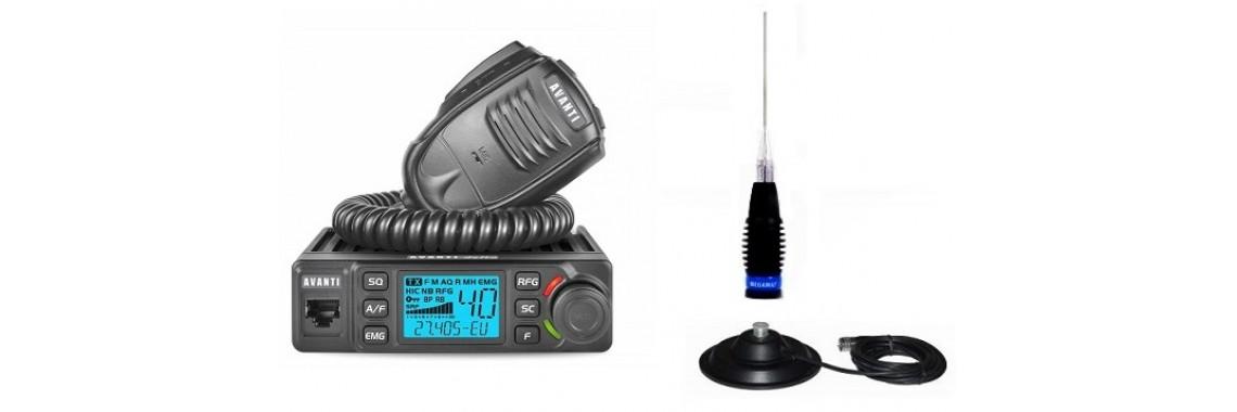 Pachet Statie Radio CB Avanti Delta cu Antena ML145