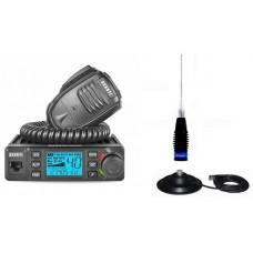 Pachet Statie Radio CB Avanti Delta ASQ Export reglabila 4-10-20 Watti cu Antena ML145