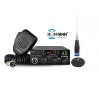 Statie Radio CB Hoffman H115 ASQ pachet cu antena putere de emisie legala 4 Watti