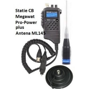 Pachet Statie Radio CB Megawat Pro Power Export 4/15 Watti
