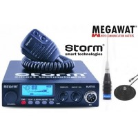 Pachet Statie CB Storm Matrix II ASQ Export cu putere reglabila 4/20 W si antena MW ML145 cu magnet